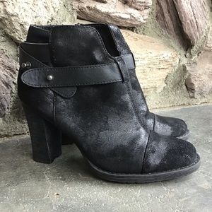 Crown Vintage Black Distressed Booties